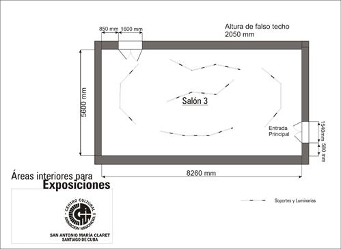 Plano de la Galería San Antonio María Claret. Salón 3