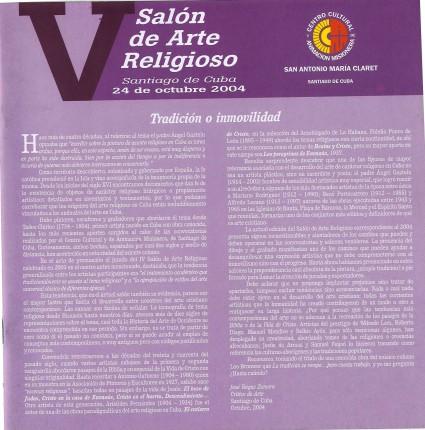 Portada del Catálogo del V SAR