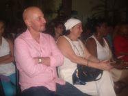 Janet junto a Tomás Sánchez. Su última visita al Centro Cultura