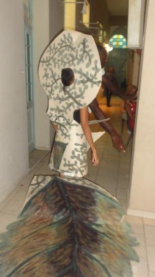 Uno de los trajes diseñados durante el taller