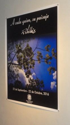 """Cartel de la expo personal del artista Rodolfo Valdés Montes de Oca, """"A cada quien, su paisaje"""""""