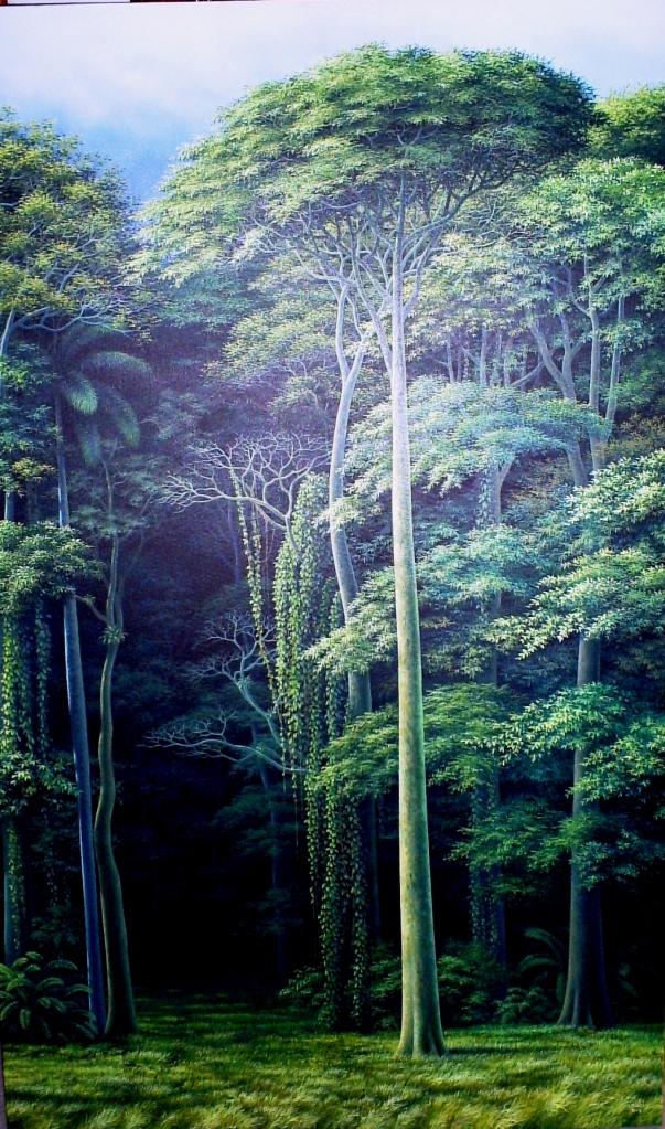Escapar de la otra realidad, 2011. Óleo / lienzo, 150 x 90 cm, Col. Nivaldo Carbonell