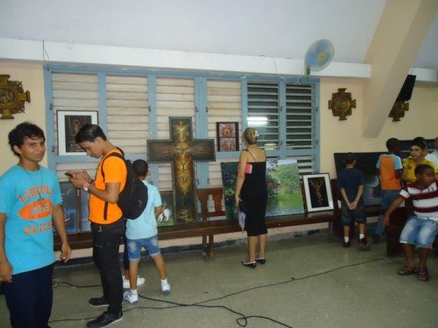 Una exposición itinerante con obras del fondo del Centro Cultural, acompañó a la Gala