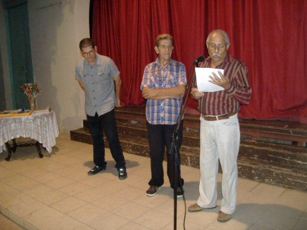 De izquierda a derecha: Julio Jimenez, José Orpí, Lino Verdecia