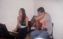 Giselle Lage y Carlos Javier Álvarez tuvieron a su cargo el segmento musical de la tertulia