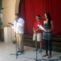 El padre Álvaro, Carlos Javier y giselle Lage