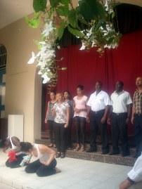 El coro de cámara Ángelus estuvo presente