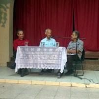 De izq a derecha Luis El Estudiante, Luis Rodríguez Arias y José Orpí