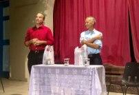 Luis El Estudiante y Luis Rodríguez Arias, agradecieron al Centro Cultural