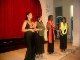 Cuarteto Vocal Vida, encargado de la tertulia musical