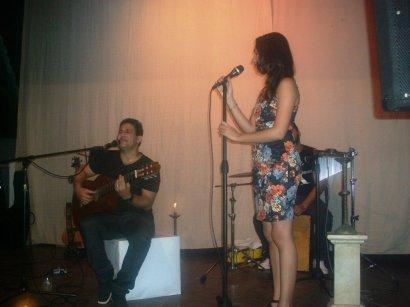 """Carlos Javier Álvarez y Giselle Lage durante la Gala Cultural """"Noche Cubana"""""""
