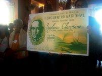 Cartel que dio la bienvenida a los participantes en el primer encuentro nacional de Seglares Claretianos