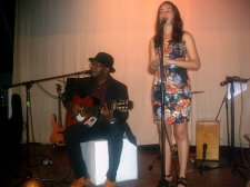 """Fito Iglesias y Giselle Lage durante la Gala Cultural """"Noche Cubana"""""""