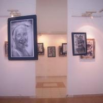 Vista de la galería con la expo Evas y Adanes. Foto: Mirtha Clavería