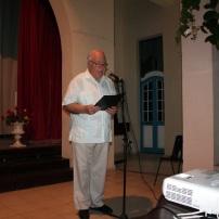 El p. Miguel Fernández dio la bienvenida a los presentes
