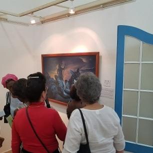 Visitantes a la exposición transitoria. Foto: Carlos J. Álvarez