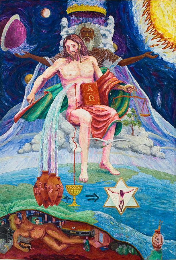 Imagen cultual de Pantócrator. Calixto A. Fernández Despaigne